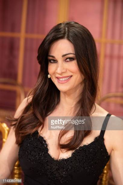 Manuela Arcuri during the Italian TV show quotBallando Con Le Stellequot at RAI Auditorium on May 11 2019 in Rome Italy