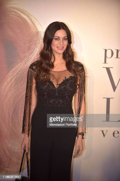 Manuela Arcuri participates in the fifth edition of the Virna Lisi award at the Auditorium Parco della Musicaon November 07 2019 in Rome Italy