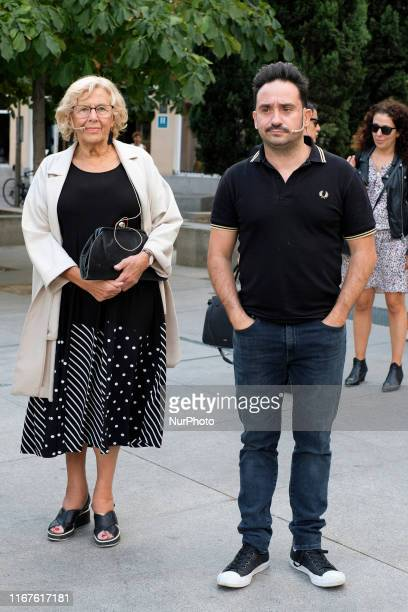 Manuela Carmena and Juan Antonio Bayona presents the audiovisual campaign LA DEMOCRACIA IS TOUCH in Madrid September 12 2019 spain