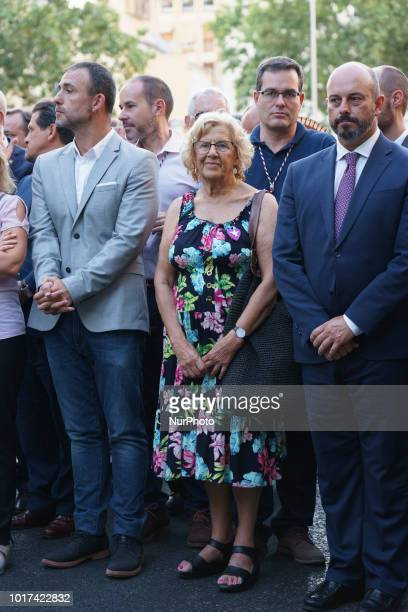 Manuela Carmena attend the Feast of La Paloma Virgin in Madrid spain on August 15 2018 Madrid's history and tradition cannot be understood without...