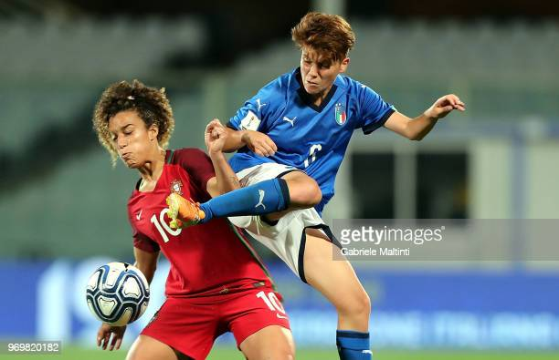 Manuela Giuliano of Italy in action during the 2019 FIFA Women's World Cup Qualifier match between Italy and Portugal at Stadio Artemio Franchi on...