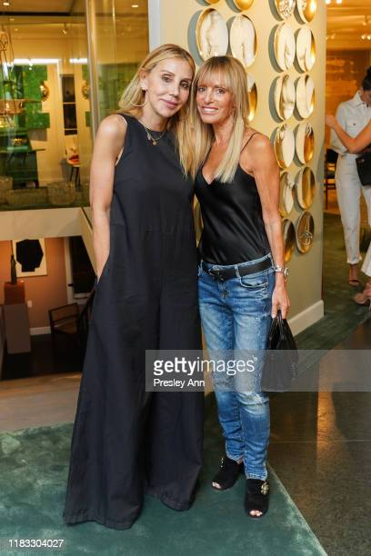 Manuela Herzer and Julia Sorkin attends Yul Brynner exhibition of photographs at LECLAIREUR on October 24, 2019 in Los Angeles, California.