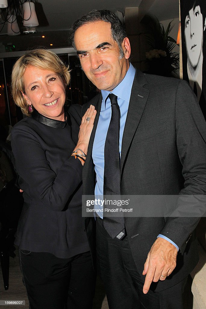 Manuela Isnard-Seznec (L) and Christopher Baldelli attend 'La Petite Maison De Nicole' Inauguration Cocktail at Hotel Fouquet's Barriere on January 22, 2013 in Paris, France.
