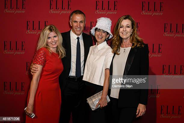 Manuela KamppWirtz Andreas Schilling Dorothee Schumacher and Andrea Schoeller attend the Elle Soiree Privee during MercedesBenz Fashion Week...