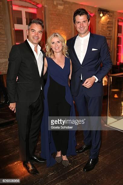 Manuela KamppWirtz Director BurdaStyle and her husband Frank Kampp and Jonas Grashey during the New Faces Award Style 2016 at 'The Grand' on November...