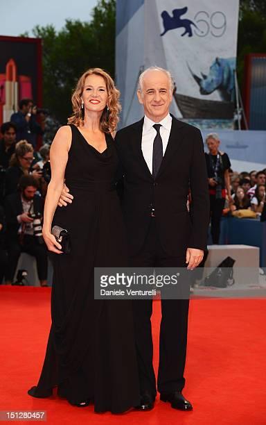 """Manuela Lamanna and actor Toni Servillo attends """"Bella Addormentata"""" Premiere during The 69th Venice Film Festival at the Palazzo del Cinema on..."""