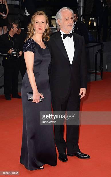 Manuela Lamanna and Toni Servillo attend the 'La Grande Bellezza' premiere during The 66th Annual Cannes Film Festival at Theatre Lumiere on May 21,...