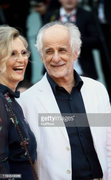 """Manuela Lamanna and Toni Servillo attends the Opening Ceremony and the """"La Vrit"""" screening during the 76th Venice Film Festival at Sala..."""