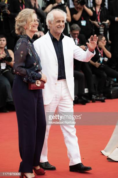 """Manuela Lamanna and Toni Servillo attends the Opening Ceremony and the """" La Vrit"""" screening during the 76th Venice Film Festival at Sala..."""