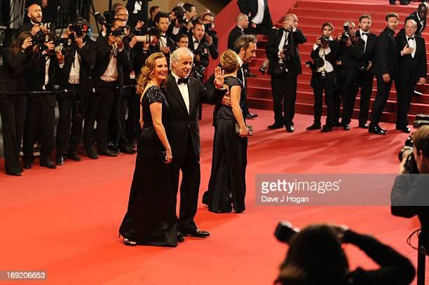 Manuela Lamanna, Toni Servillo, Daniela Sorrentino and Paolo Sorrentino attend the 'La Grande Bellezza' premiere during The 66th Annual Cannes Film...