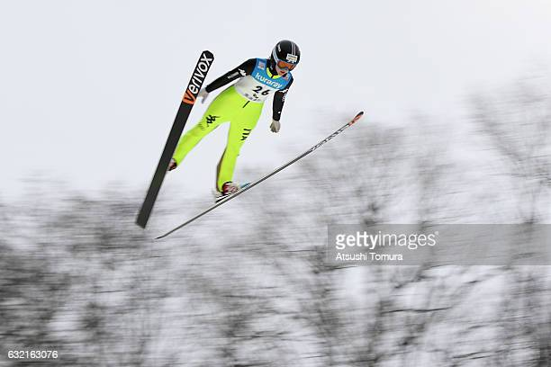 Manuela Malsiner of Italy competes in the Ladies' HS106 normal hill individual during the FIS Ski Jumping World Cup Ladies 2017 In Zao at Zao Jump...