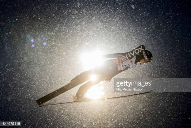 Manuela Malsiner of Italy during the women's ski jumping HS100 during the FIS Nordic World Ski Championships on February 24 2017 in Lahti Finland
