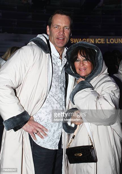 Manuela Maske and Henry Maske attend the 'Transsiberian' Party as part of the 58th Berlinale Film Festival at the Arctic Palace on February 9, 2008...