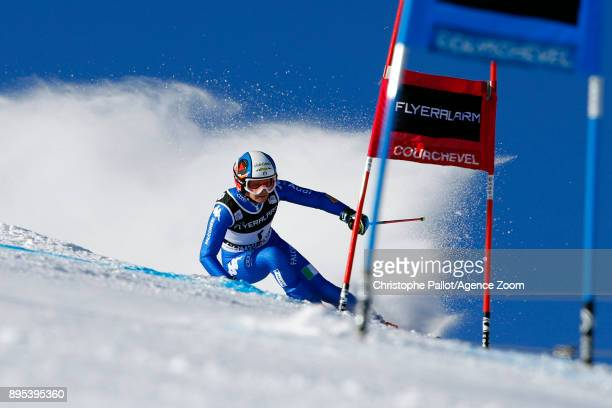 Manuela Moelgg of Italy during the Audi FIS Alpine Ski World Cup Women's Giant Slalom on December 19 2017 in Courchevel France