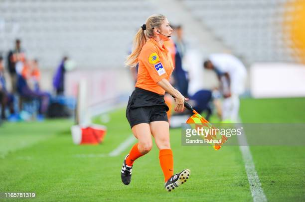 Manuela Nicolosi referee during the Ligue 2 match between Paris FC and Chambly at Stade Charlety on September 2 2019 in Paris France