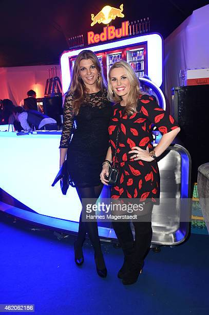 Manuela Retter and Alessandra Geissel attend the Kitz n' Glamour Party 2015 on January 23 2015 in Kitzbuehel Austria