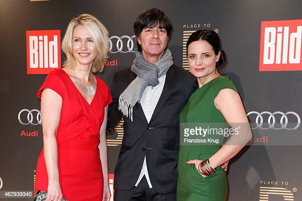 Manuela Schwesig, Joachim Loew and Elisabeth Lanz attend the Bild 'Place to B' Party on February 07, 2015 in Berlin, Germany.