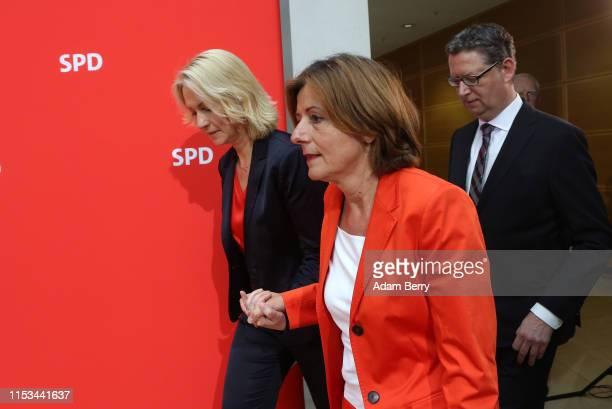Manuela Schwesig, prime minister of the state of Mecklenburg Western-Pomerania , Malu Dreyer, prime minister of the state of Rhineland-Palatinate ,...