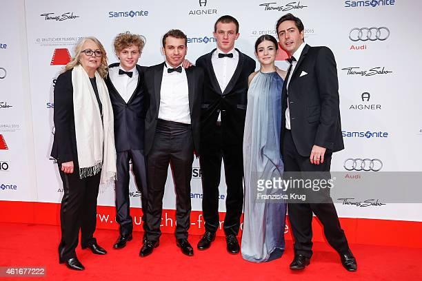 Manuela Stehr Johannes Nussbaum Edin Hasanovic Jannis Niewoehner Helen Woigk and David Dietl attend the German Film Ball 2015 on January 17 2015 in...