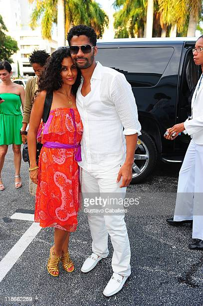 Manuela Testolini and Eric Benet attend Cadillac Proud Sponsor Of ABFF at Fillmore Miami Beach on July 9 2011 in Miami Beach Florida