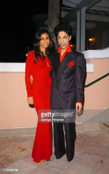 Manuela Testolini and Prince during Clive Davis' 2005 PreGRAMMY Awards Party Cocktail Reception at Beverly Hills Hotel in Beverly Hills California...