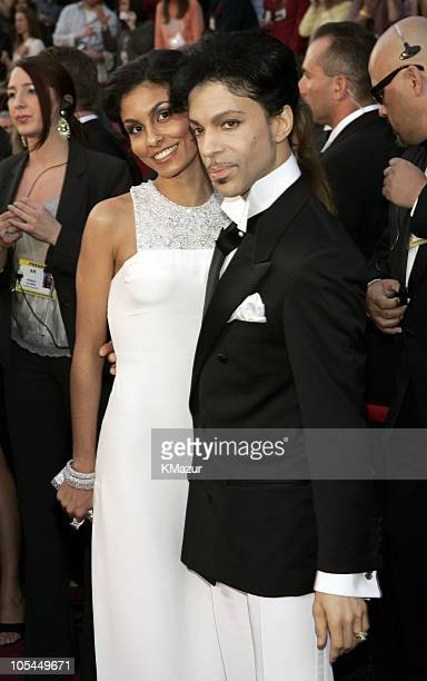 Manuela Testolini and Prince during The 77th Annual Academy Awards Red Carpet at Kodak Theatre in Hollywood California United States