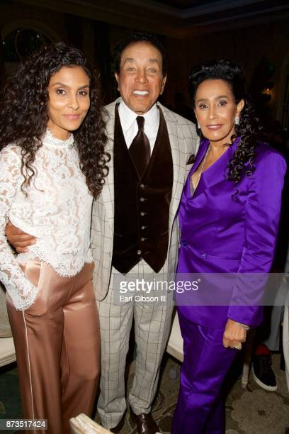 Manuela Testolini Smokey Robinson and Frances Glandney attend In A Perfect World Foundation Honors Quincy Jones at Four Seasons Hotel Los Angeles at...