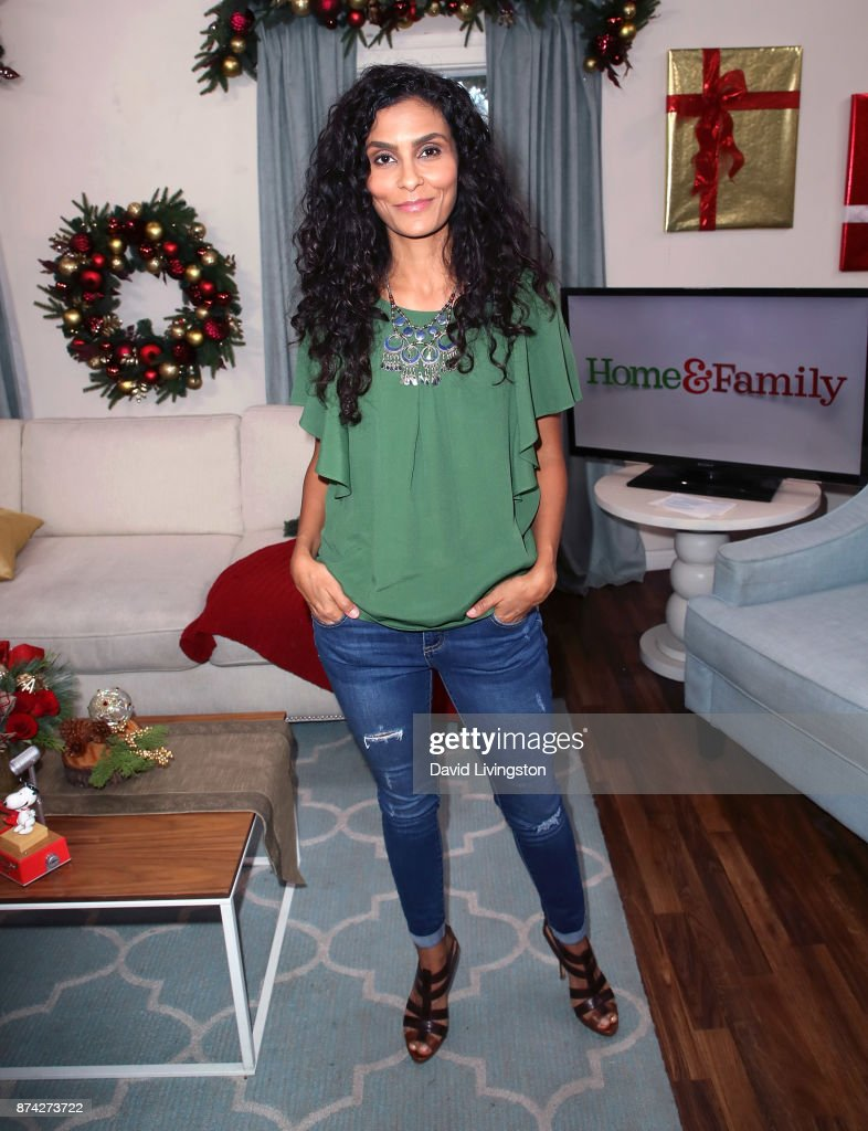 Manuela Testolini visits Hallmark's 'Home & Family' at Universal Studios Hollywood on November 14, 2017 in Universal City, California.