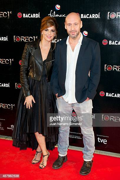 Manuela Velasco and Jaume Balaguero attend 'REC 4' premiere at Capitol Cinema on October 27 2014 in Madrid Spain