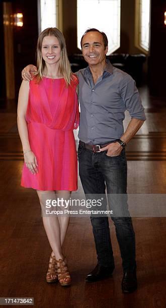 Manuela Velasco and Juan Ribo are seen on set filming 'Galerias Velvet' on June 24 2013 in Madrid Spain