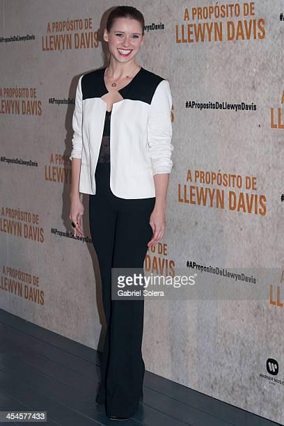 Manuela Velles attends 'A Proposito De Llewyn Davis' Madrid premiere photocall at Matadero Madrid cineteca on December 9 2013 in Madrid Spain