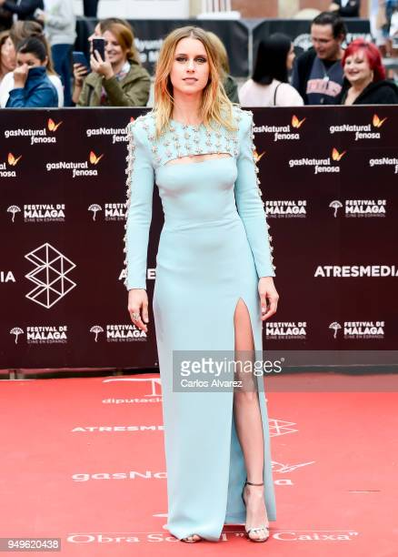 Manuela Velles attends the 21th Malaga Film Festival closing ceremony at the Cervantes Teather on April 21 2018 in Malaga Spain