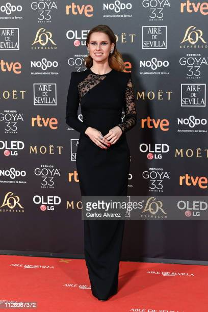 Manuela Velles attends the Goya Cinema Awards 2019 during the 33rd edition of the Goya Cinema Awards at Palacio de Congresos y Exposiciones FIBES on...