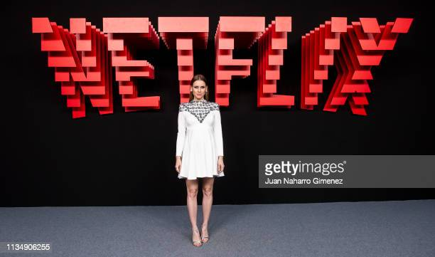Manuela Velles attends the red carpet during the Netflix presentation party at the Invernadero del Palacio de Cristal de la Arganzuela on April 4...