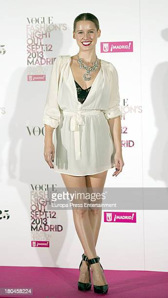 Manuela Velles attends Vogue Fashion Night Out Madrid 2013 on September 12 2013 in Madrid Spain