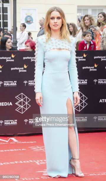 Manuela Velles during the 21th Malaga Film Festival closing ceremony at the Cervantes Teather on April 21 2018 in Malaga Spain