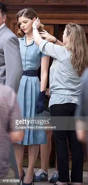 Manuela Velles is seen during the set filming of 'Galerias Velvet' on June 01, 2015 in Madrid, Spain.