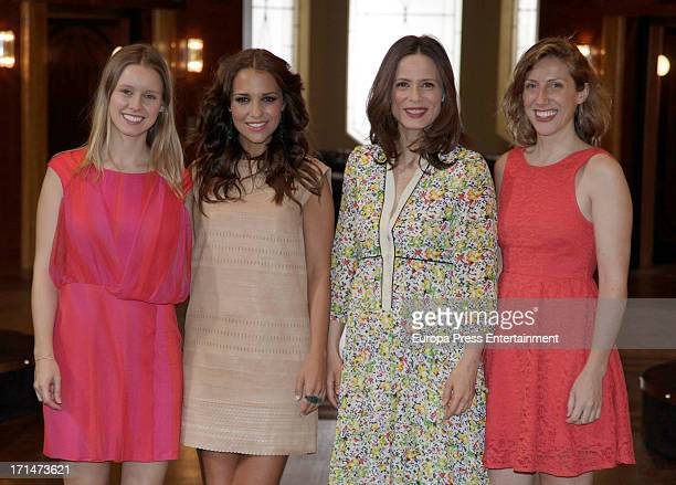 Manuela Velles Paula Echevarria Aitana Sanchez Gijon and Cecilia Freire are seen on set filming 'Galerias Velvet' on June 24 2013 in Madrid Spain
