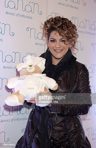 Manuela Villa attends the Nanan Flagship Store Opening on January 27 2011 in Rome Italy