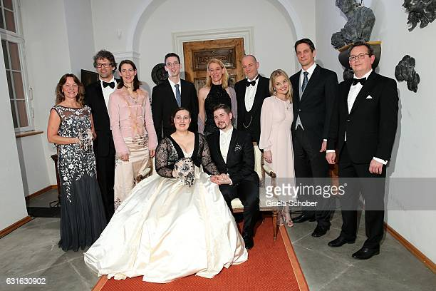 Manuela Willm maid of honor sister Bettina Graefin Bernadotte von Wisborg and her husband Philipp Haug brother Christian Graf Bernadotte von Wisborg...