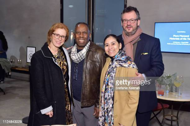 Manuela Wirth Charles Gains Roxana Landaverde and Iwan Wirth attend Hauser Wirth Los Angeles Opening of Annie Leibovitz and Piero Manzoni and Musical...