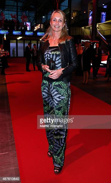 Manuela Wisbeck and Annett Fleischer attend the 18th Annual German Comedy Awards at Coloneum on October 21 2014 in Cologne Germany The show will be...