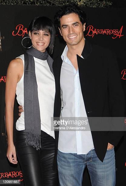 Manuela Zero and Antonio Cupo attend 'Barbarossa' Premiere at the Castello Sforzesco on October 2 2009 in Milan Italy
