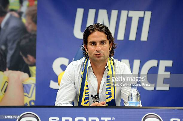 Manuele Blasi new player of Parma FC attends a press conference to unveil Parma Fc new players at Stadio Ennio Tardini on July 9 2011 in Parma Italy