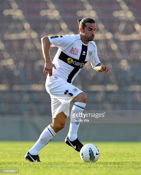 Manuele Blasi of Parma FC during the friendly match between Mantova and Parma FC at Danilo Martelli Stadium on September 15 2011 in Mantova Italy