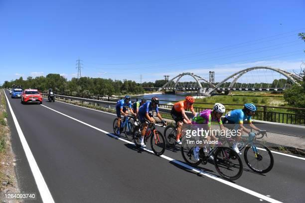 Manuele Boaro of Italy and Astana Pro Team / Alessandro Tonelli of Italy and Team Bardiani Csf Faizane'/ Gijs Van Hoecke of Belgium and CCC Team /...