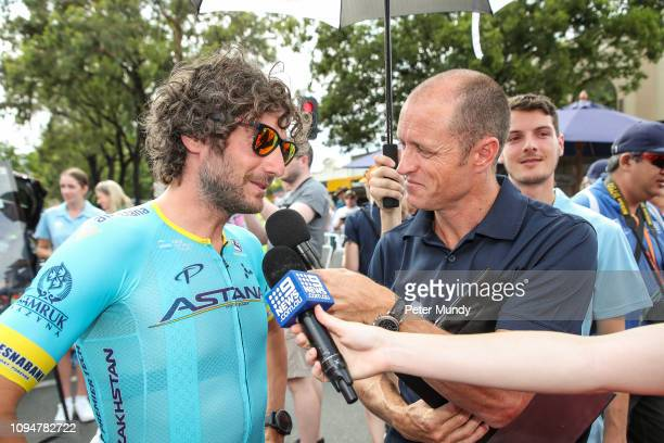 Manuele Boaro of Italy and Astana Pro Team before Stage 2 from Norwood to Angaston of the Santos Tour Down Under on January 16 2019 in Angaston...