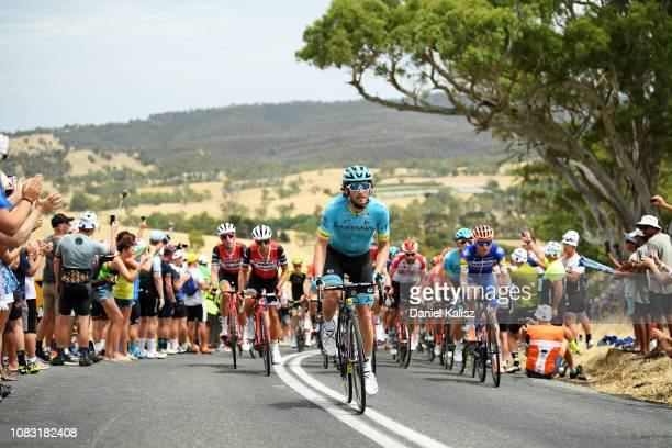 Manuele Boaro of Italy and Astana Pro Team competes during stage two of the 2019 Tour Down Under on January 16 2019 in UNSPECIFIED Australia