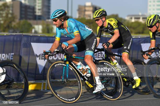 Manuele Boaro of Italy and Astana Pro Team / during the 3rd Toward Zero Race Melbourne 2019 Elite Men's Criterium a 742km Sprint Points race at F1...