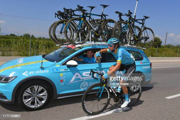 Manuele Boaro of Italy and Astana Pro Team / Feed Zone / Car / Bottle / during the 74th Tour of Spain 2019 Stage 7 a 1791km stage from Onda to Mas de...